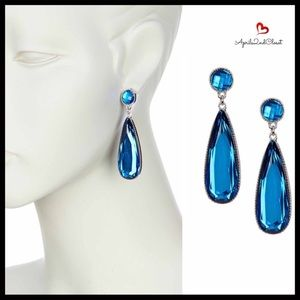 OLIVIA WELLES CRYSTAL JEWELED STONE DROP EARRINGS